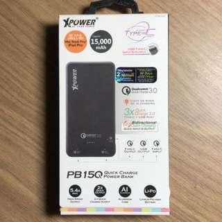 XPower PB15Q 15000mAh QC3.0 & USB3.1 PD 外置充電器