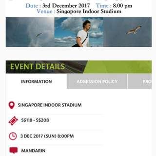 Eason Chan Singapore tour