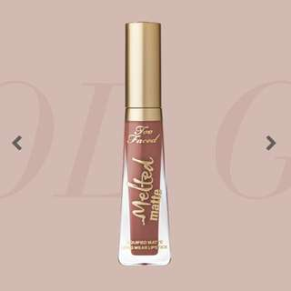 too faced melted liquid lipstick - cool girl #