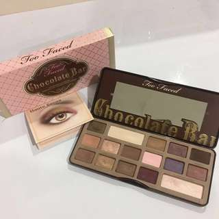 Too faced chocolate bar eyeshadow palette with Box