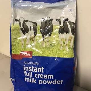 Coles Australian full cream milk power 澳洲Coles 全脂 奶粉