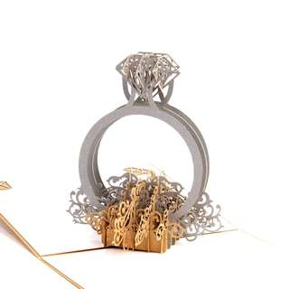 Proposal wedding ring engagement ring Girlfriend present birthday card birthday present anniversary gift anniversary present lovers couple