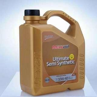 Maxoil semi synthetic 10w-40 .ringan,engine bersih.