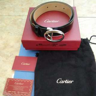AUTHENTIC CARTIER BELT IN PATENT LEATHER  (BRAND NEW ! )