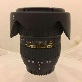 Tokina 11-16mm / F2.8 AT-X116 PRO DXII for Nikon