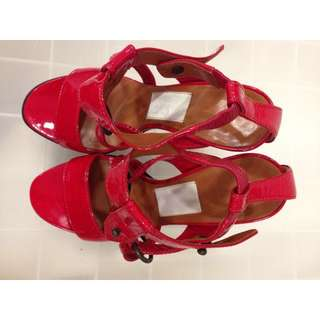 *Reduced* Lanvin Red Patent Heels Size 36