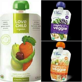 Organic Baby Food Vegetable Fruit Puree Healthy Snack