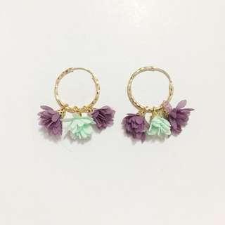 Flower Hoops Earrings