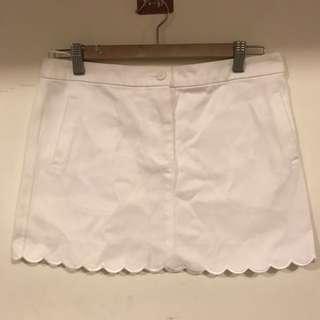 Chloe white denim scallop hem skirt 波浪邊牛仔短裙