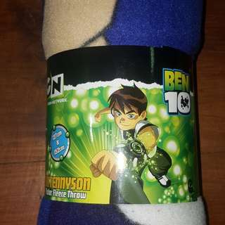 Licenced Ben 10 Polar Fleece Throw Blanket Rug, Boys Bedding