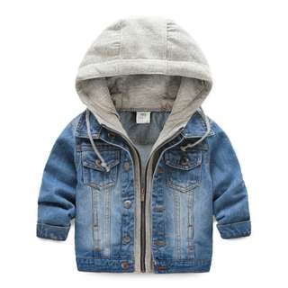 Baby Hooded Denim Soft Jacket