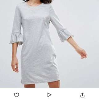 ASOS UK 12 Vero Moda Peplum Sleeves Dress