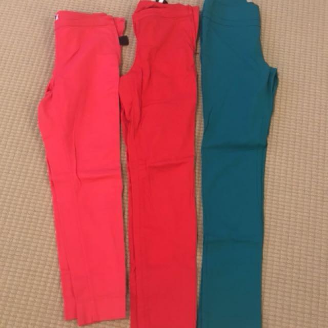 3 pairs of pants