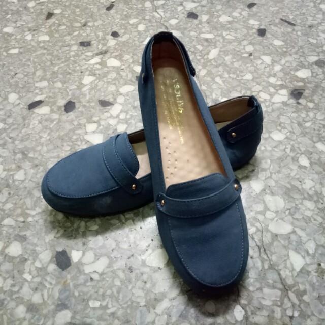 🌸二手寶藍色娃娃鞋