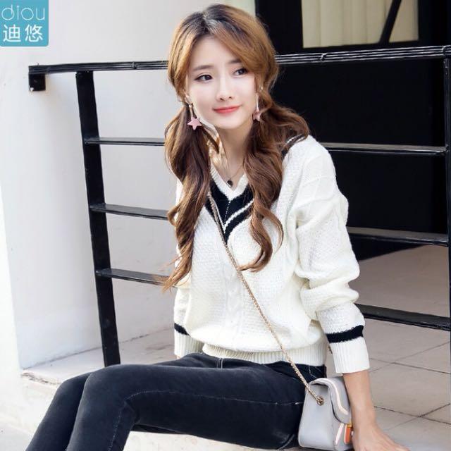 韓系針織上衣