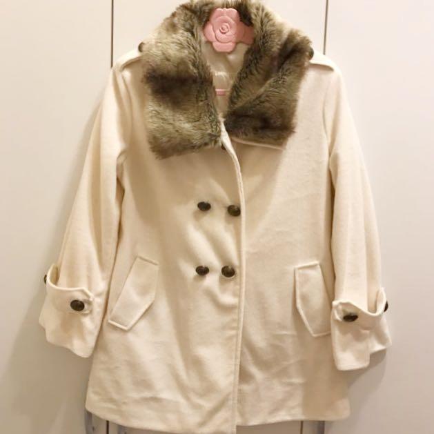 可拆毛領保暖外套