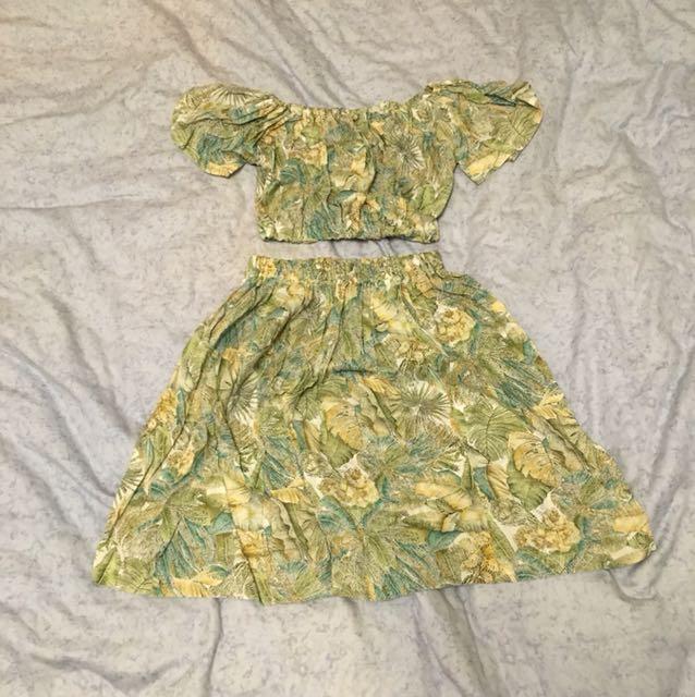 泰國帶回🇹🇭 兩件式叢林小天后的洋裝