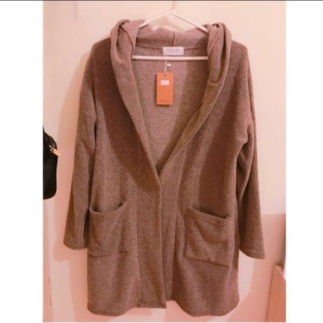 全新✨韓國帶回長版毛呢外套 #我的女裝可超取