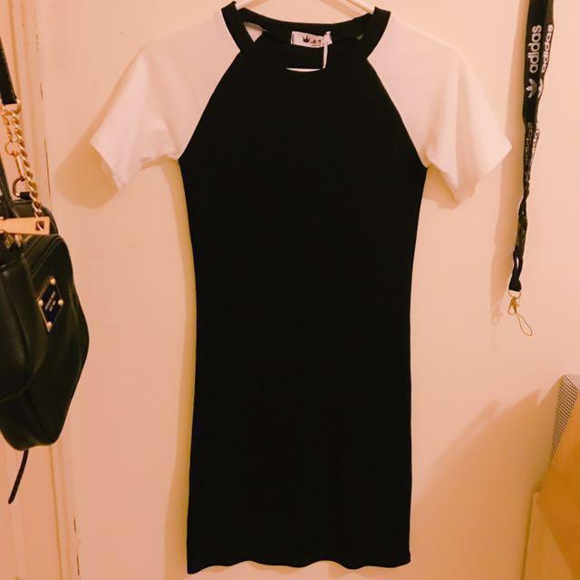 全新✨拼接連身裙 #我的女裝可超取