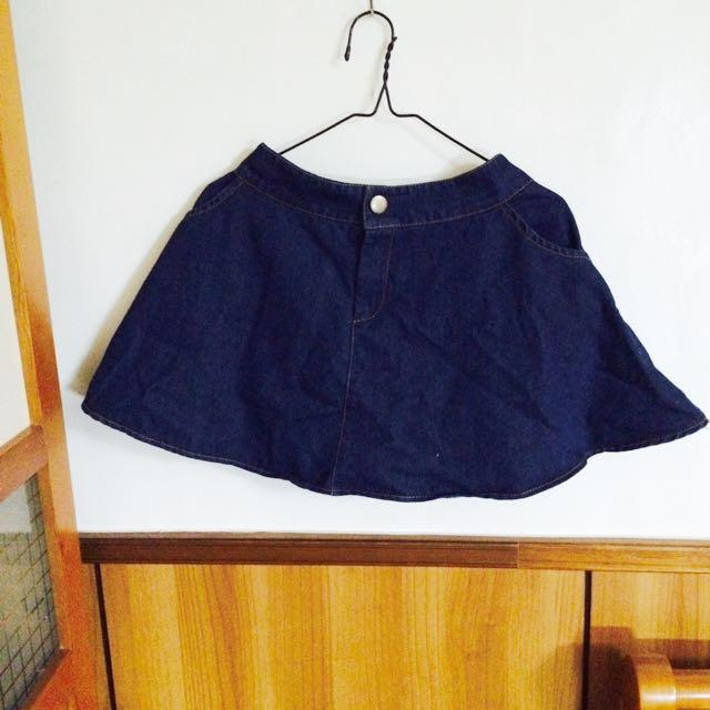 傘狀深色牛仔裙  #我的女裝可超取