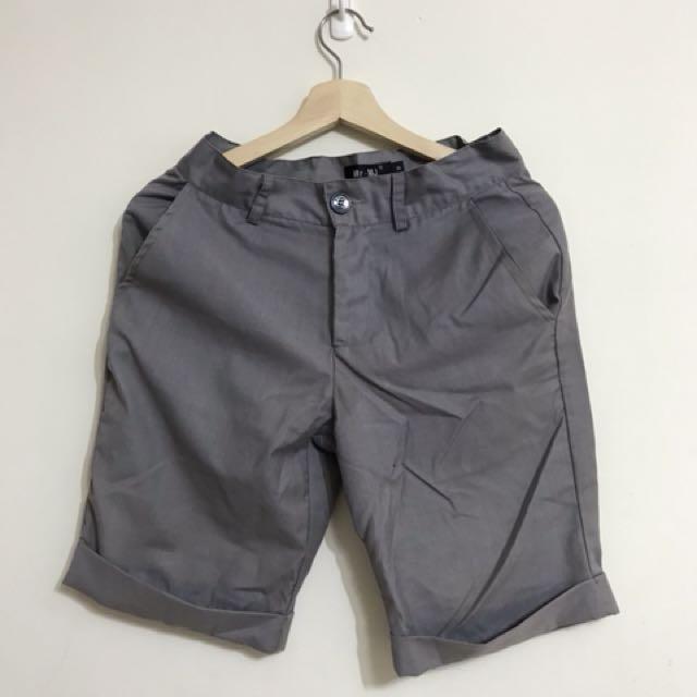 近新 Mr.MJ 時尚質感灰 挺版短褲