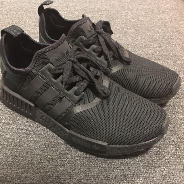 Adidas NMD Triple Black US9.5 8/10