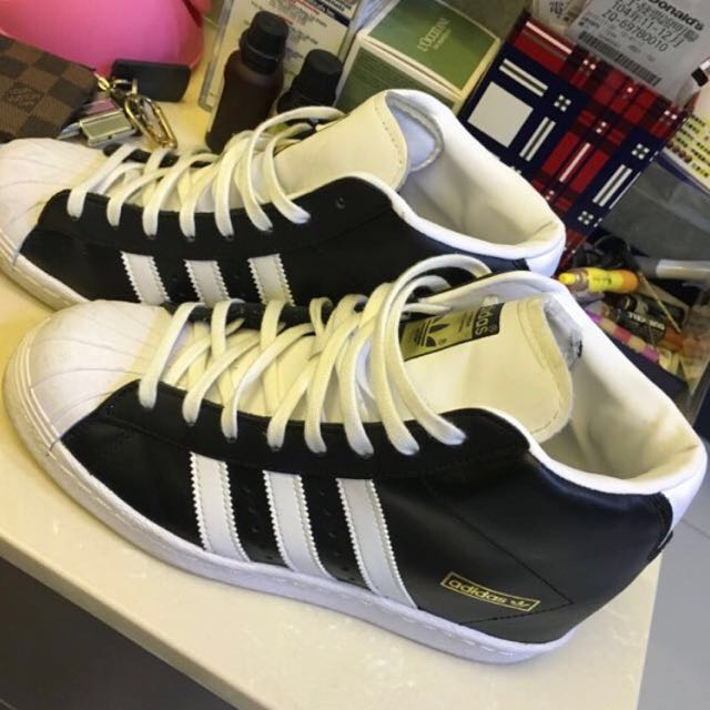 Adidas Original Superstar 金標 內增高 高筒