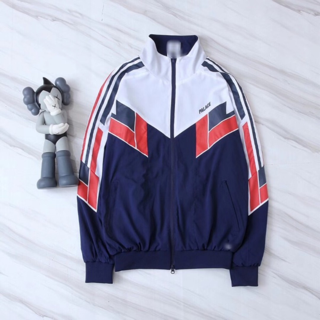 d16407f0f85d Adidas x Palace Shell Track Top (Night Indigo   White) on Carousell