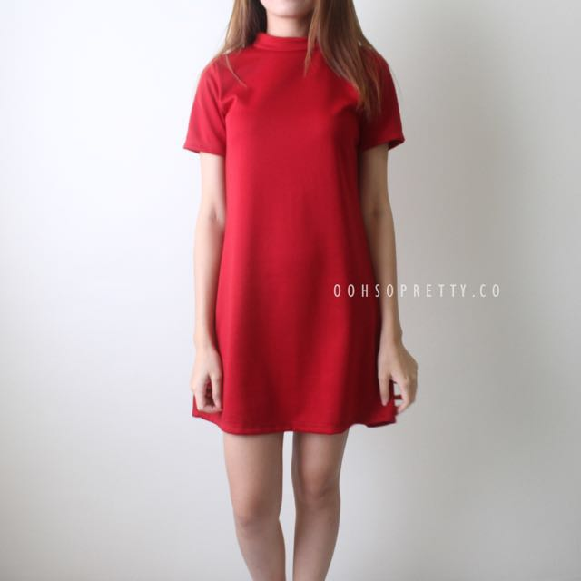 Agatha Red Shift dress