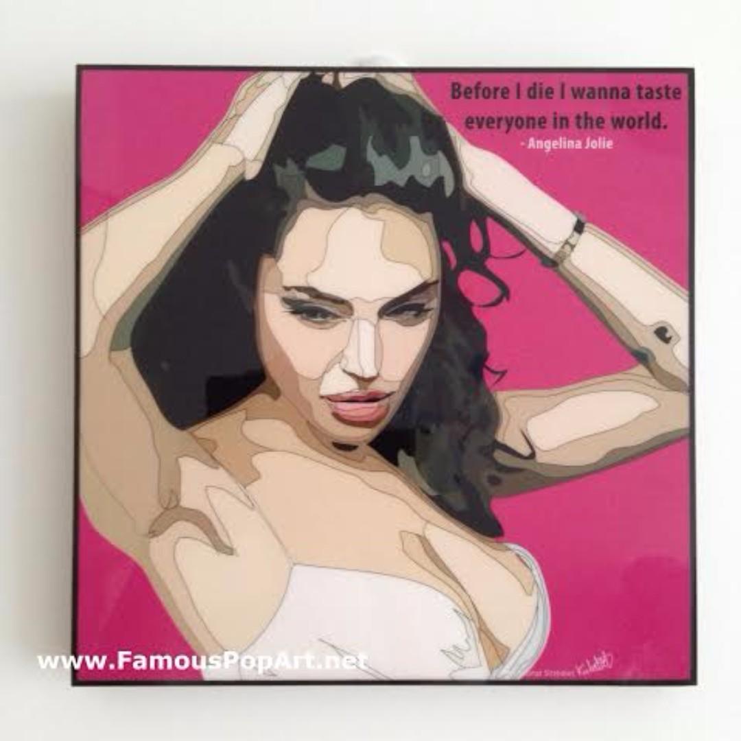Angelina Jolie PopArt! Portrait Wall Decoration Pop Art