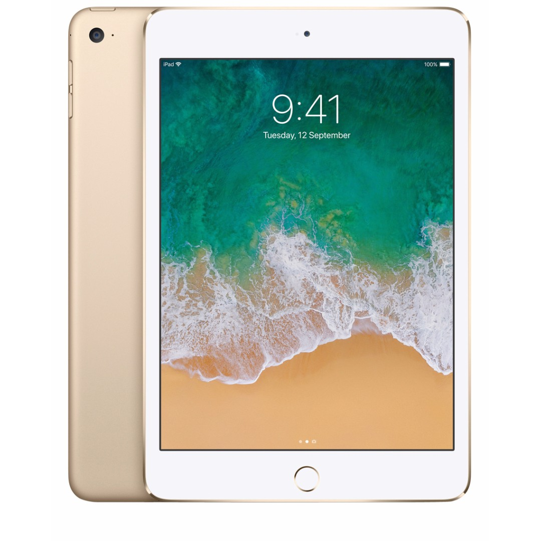 Apple iPad mini 4 Wi-Fi 128GB Gold -Comes with box but no charger