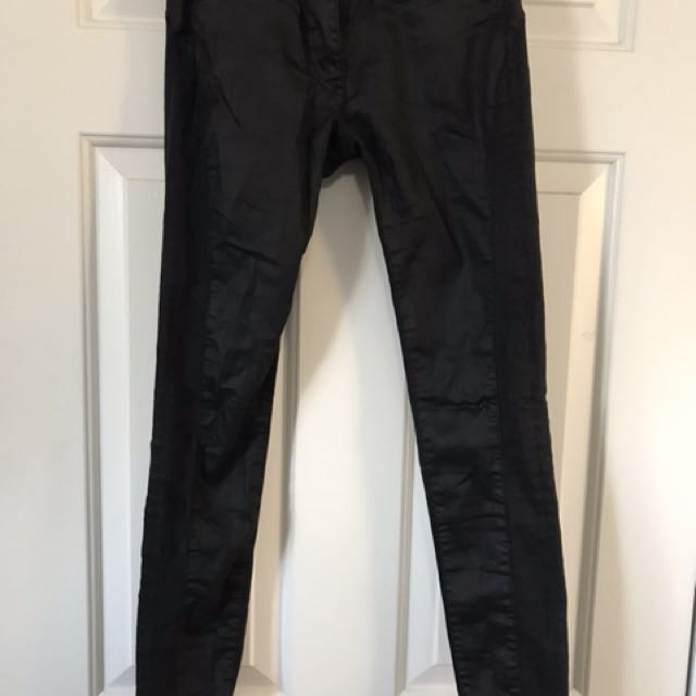 ARITZIA Leather Style Low Waisted Jeans