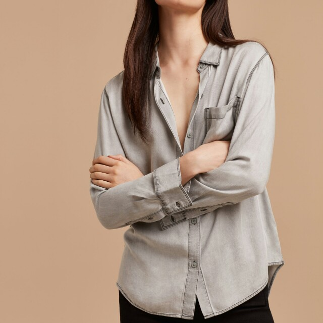 Aritzia Montana shirt in Black Denim