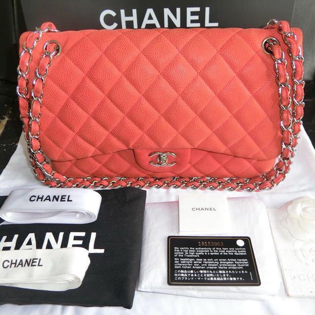 Authentic Chanel Wet Jumbo Caviar seri 18 (2014)
