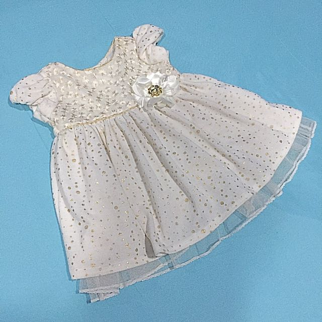 Baptismal Dress / Formal Dress for baby ( brand: young land baby 12mos, no damage)