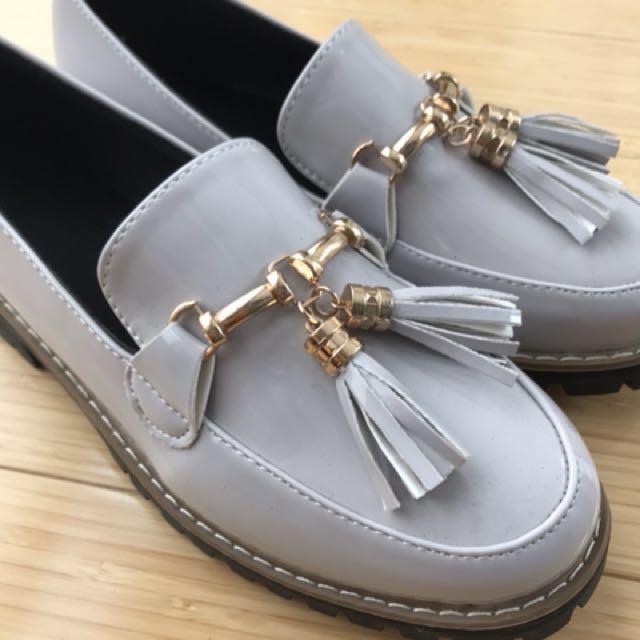 Beige Loafers Size 38/AU 6.5