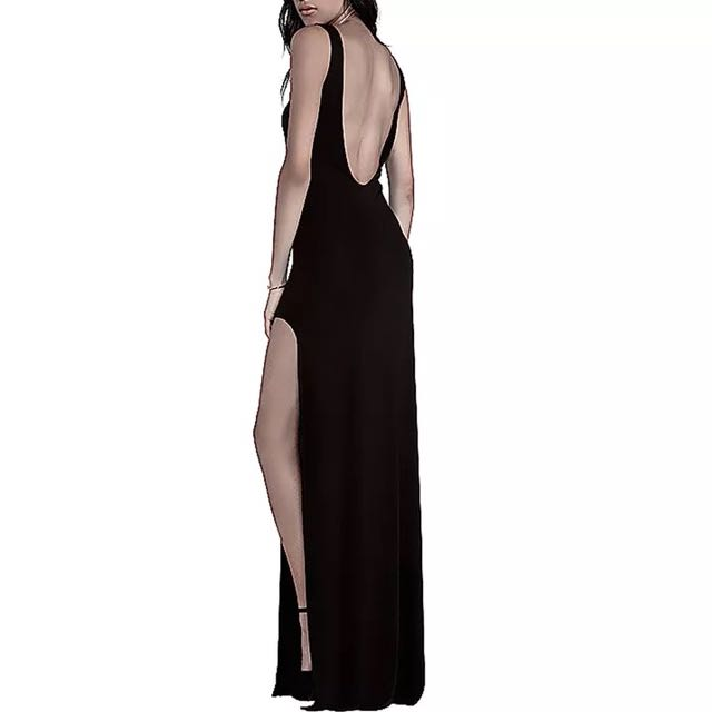 Black long summer dress