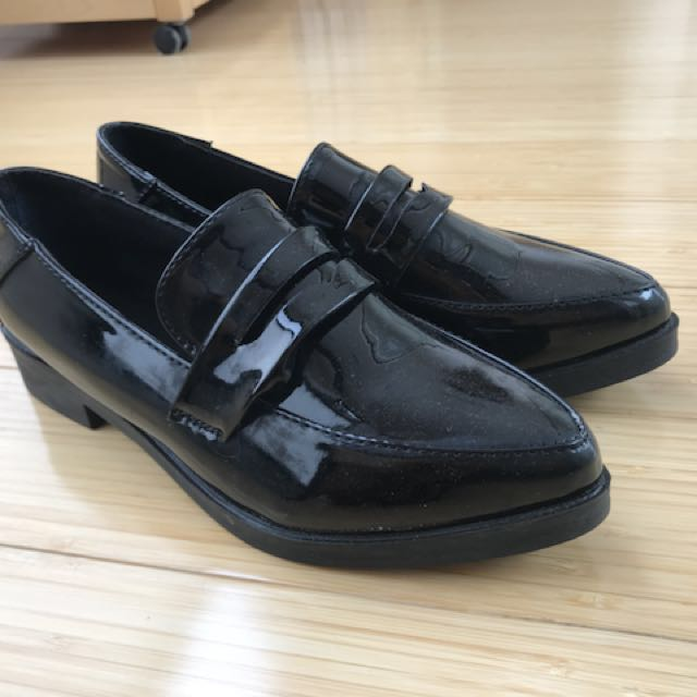 Black Pointed Loafers EU Size 38/AU Size 6.5