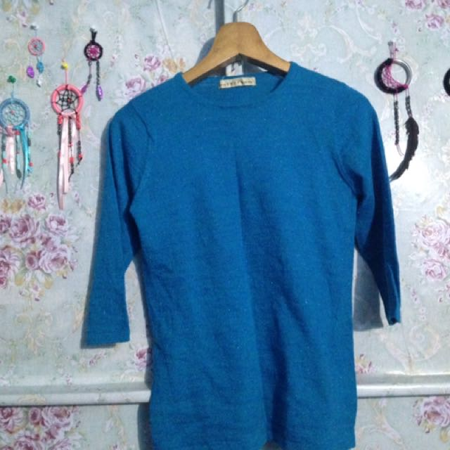 blue simple blouse