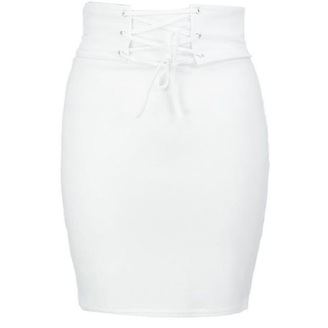Boohoo white skirt