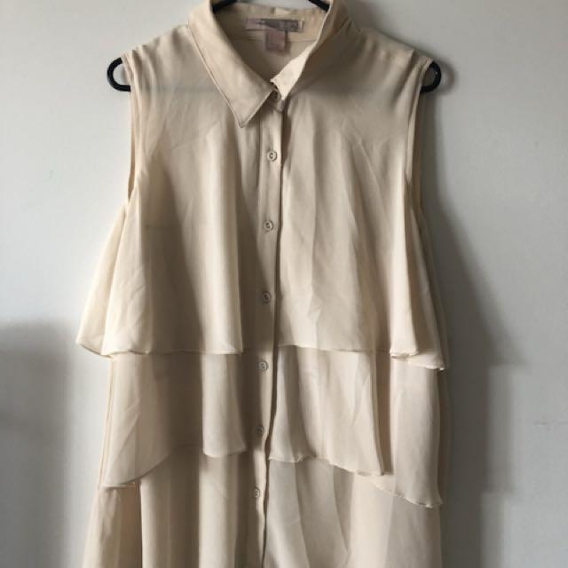 Button Up Blouse Size L