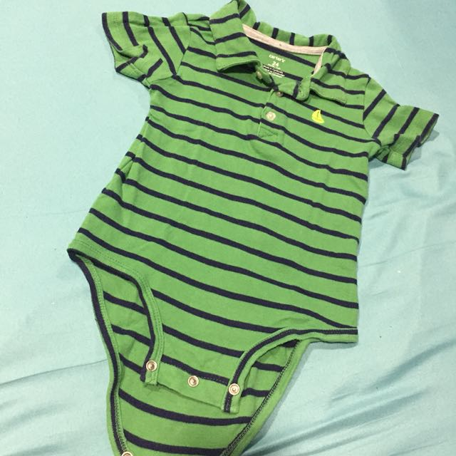 Carters Green Onesie 24mos (bought in USA, no damage)