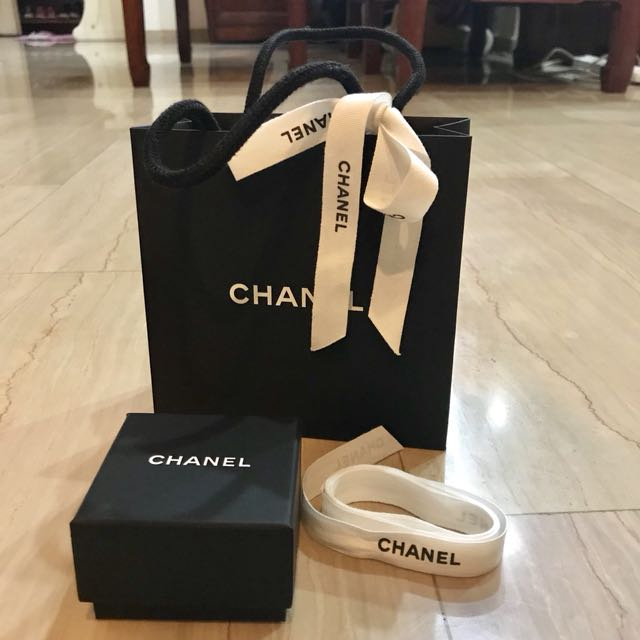 694241262bff Chanel Earring Box With Ribbons