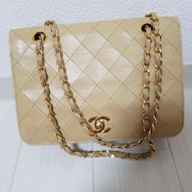 Chanel small beige flap