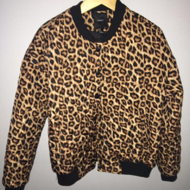 Cheetah Print Bomber
