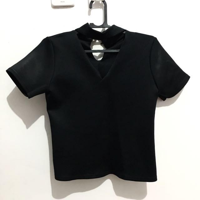 Choker black top