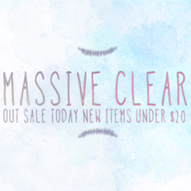 CLEAR OUT SALE