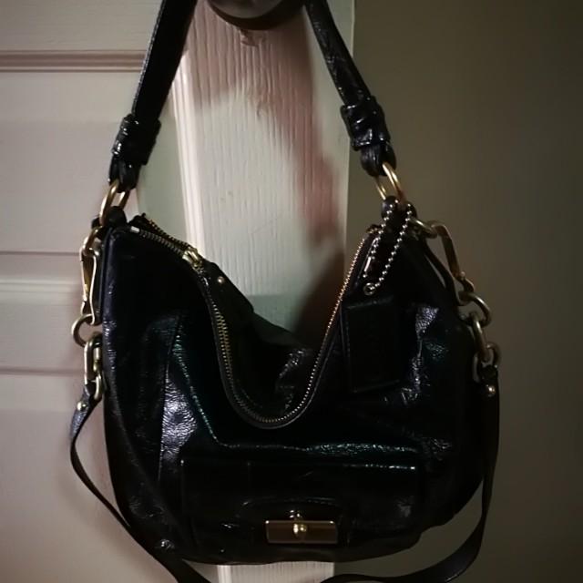 aa6d9b8946 ... cheap coach kristin crossbody leather black womens fashion bags wallets  on carousell 89689 f55fc