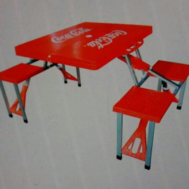 coca cola foldable picnic table set furniture tables chairs on
