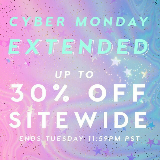 COLOURPOP CYBER MONDAY EXTENDED